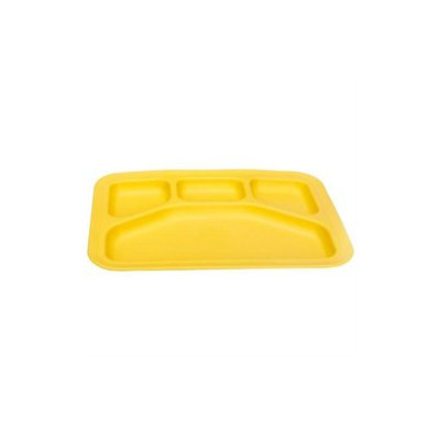 Green 3 Green Toys Divided Tray, Yellow - 1 ct.