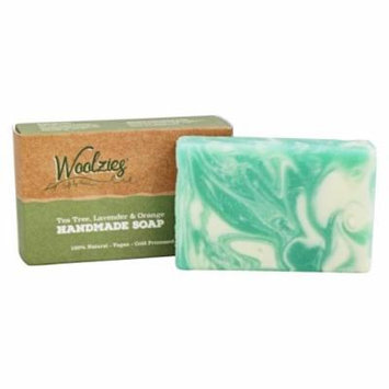 Woolzies - 100% Natural Handmade Soap Bar Tea Tree, Lavender, and Orange - 4 oz.