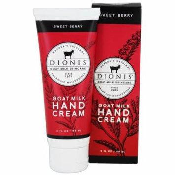 Dionis Goat Milk Skincare - Hand Cream Sweet Berry - 2 oz.