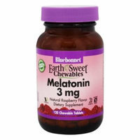 Bluebonnet Nutrition - EarthSweet Chewables Melatonin Natural Raspberry 3 mg. - 120 Chewable Tablets