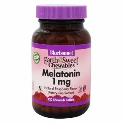 Bluebonnet Nutrition - EarthSweet Chewables Melatonin Natural Raspberry 1 mg. - 120 Chewable Tablets