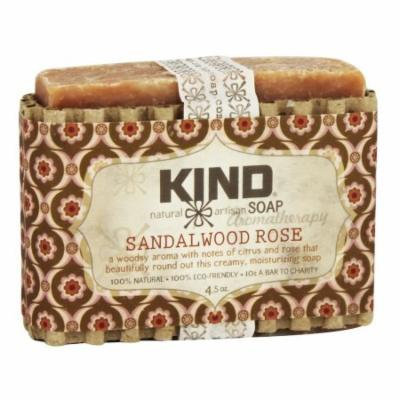 Kind Soap Co. - Artisan Aromatherapy Bar Soap Sandalwood Rose - 4.5 oz.
