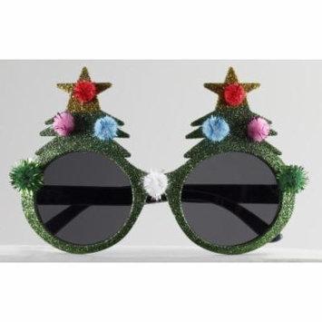 Glitter Christmas Tree Sunglasses