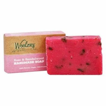 Woolzies - 100% Natural Handmade Soap Bar Rose and Sandalwood - 4 oz.