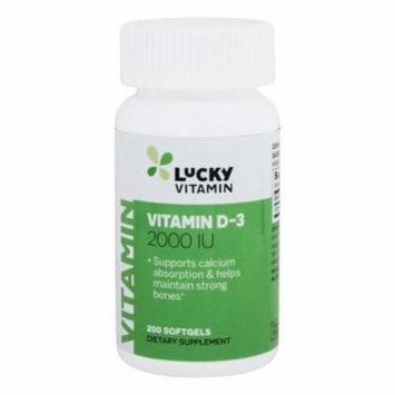 LuckyVitamin - Vitamin D-3 2000 IU - 200 Softgels