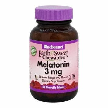 Bluebonnet Nutrition - EarthSweet Chewables Melatonin Natural Raspberry Flavor 3 mg. - 60 Chewable Tablets