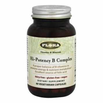 Flora - Hi-Potency B Complex - 60 Vegetarian Capsules