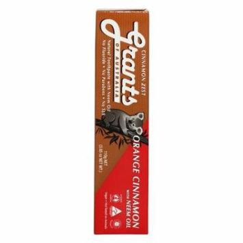 Grants of Australia - Natural Toothpaste Orange Cinnamon with Neem Oil - 3.85 oz.