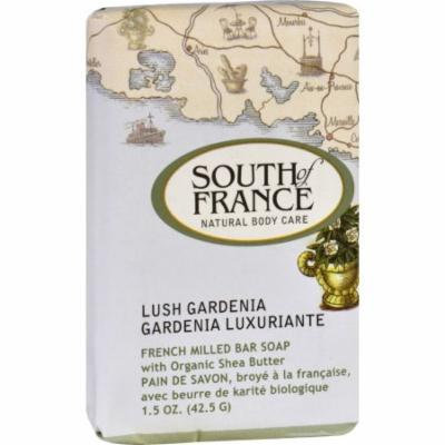 South of France Bar Soap - Lush Gardenia - Travel - 1.5 oz - Case of 12