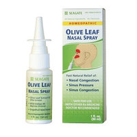Seagate Products Homeopathic Olive Leaf Nasal Spray, 1 oz Bottle
