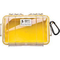 Pelican Products Pelican 1050-027-100 Yellow 1050 Micro Case with Clear Lid and Carabineer