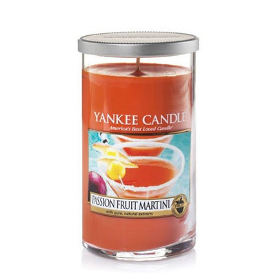 Yankee Candle Passion Fruit Martini 12oz. Pillar 12 Ounce, Medium Orange