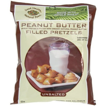 Good Health Peanut Butter Pretzels, Unsalted, 5 Ounce Bags (Pack of 12)