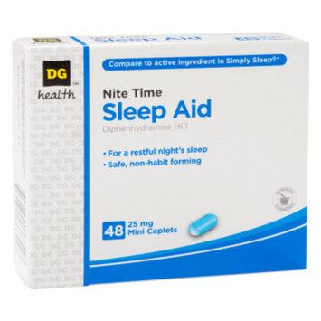 DG Health Nite Time Sleep Aid - 25 mg Mini Caplets, 48 ct