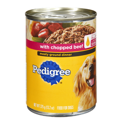 Pedigree® Chopped Beef Meaty Ground Dinner Dog Food
