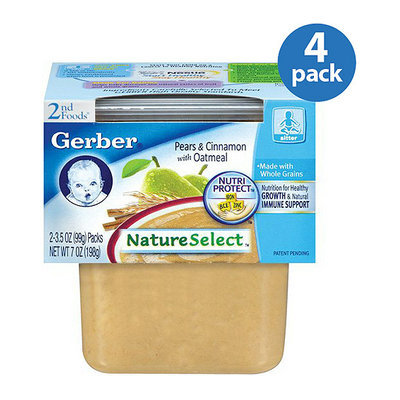 Gerber 2nd Foods Oatmeal Cereal With Cinnamon & Pears