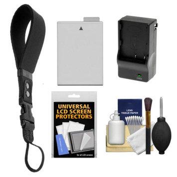 OP/Tech Op/Tech USA Neoprene DSLR Camera Wrist Strap (Black) with LP-E8 Battery & Charger + Accessory Kit for Rebel T3i, T4i, T5i