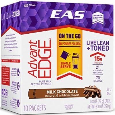 EAS AdvantEDGE Protein Powder Packets, Milk Chocolate, 60 Count