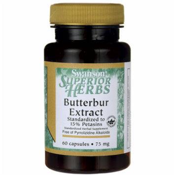 Swanson Butterbur Extract 75 mg 60 Caps