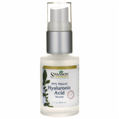 Swanson 99% Natural Hyaluronic Acid Serum 1 fl oz (29.6 ml) Serum
