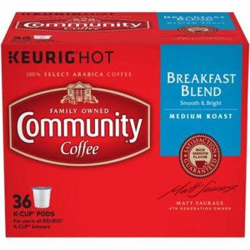 Community Coffee Breakfast Blend Medium Roast K-Cup Pods, 36 count