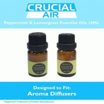 Sweet Peppermint & Soothing Lemongrass Infused Essential Oil for Aromatherapy, 10 ml each