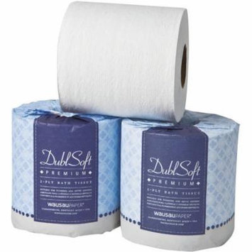 Wausau Paper DublSoft 2-Ply Bathroom Tissue, 500 sheets, 48 rolls