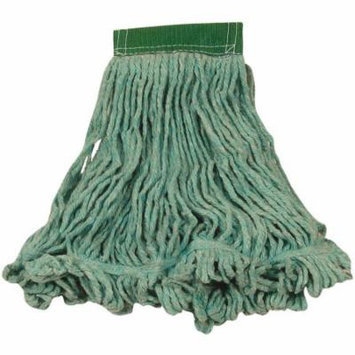 Rubbermaid Commercial Super Stitch Blend Cotton/Synthetic Medium Green Mop Heads, 6 count