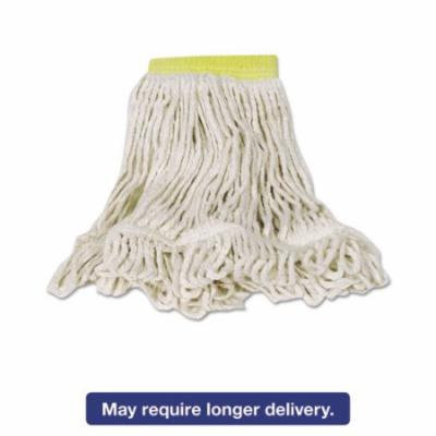 Rubbermaid Commercial Small Super Stitch Blend Cotton/Synthetic Mop Heads, White, 6 count