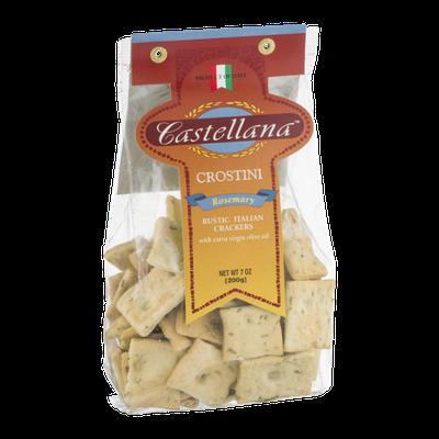 Castellana Crostini Rustic Italian Crackers Rosemary