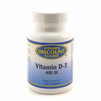 Vitamin D-3 400 iu By Vitamin Discount Center - 100 Softgels