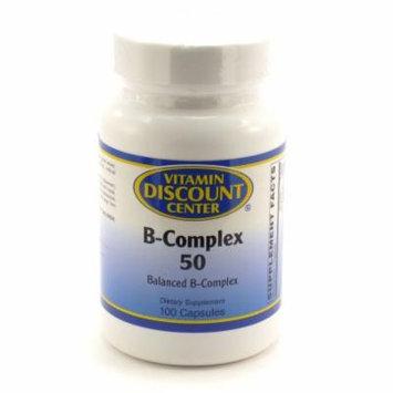 B-Complex 50 By Vitamin Discount Center - 100 Capsules Vitamin B