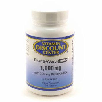 PureWay-C Vitamin C 1000mg with Bioflavonoids Vitamin Discount Center - 90 Tabs