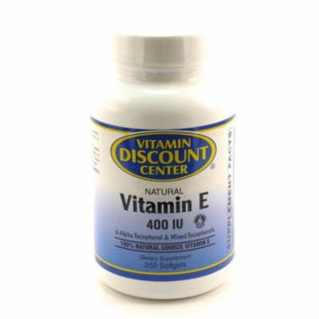 Vitamin E Natural 400 I.U. by Vitamin Discount Center - 250 Softgels