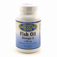 Omega 3 Fish Oil 1000mg by Vitamin Discount Center - 100 Softgels