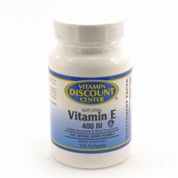 Vitamin E Natural 400 I.U. by Vitamin Discount Center - 100 Softgels