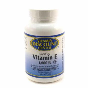 Vitamin E 1000 I.U. by Vitamin Discount Center - 100 Softgels