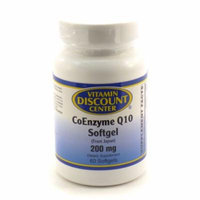 Coenzyme Q10 200 mg Softgel By Vitamin Discount Center - 60 Softgels