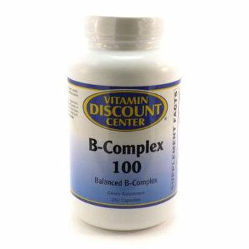 B-Complex 100 by Vitamin Discount Center - 250 Capsules Vitamin B