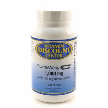 PureWay-C Vitamin C 1000mg with Bioflavonoids Vitamin Discount Center - 180 Tabs