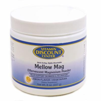Mellow Mag Calming Magnesium Powder Lemon by Vitamin Discount Center - 8 Ounces
