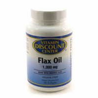 Organic Flax Oil 1000mg By Vitamin Discount Center - 90 Softgels