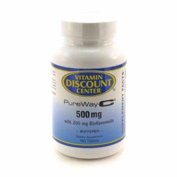 PureWay-C Vitamin C 500mg with Bioflavonoids Vitamin Discount Center - 180 Tabs