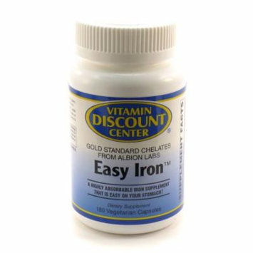 Easy Iron 25mg By Vitamin Discount Center - 180 Veg Caps