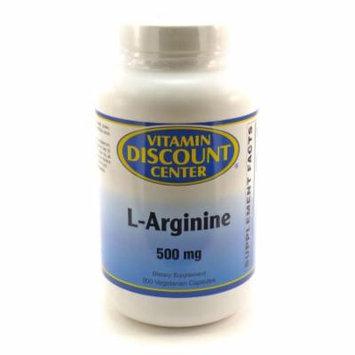 L-Arginine 500mg by Vitamin Discount Center - 200 Vegetarian Caps