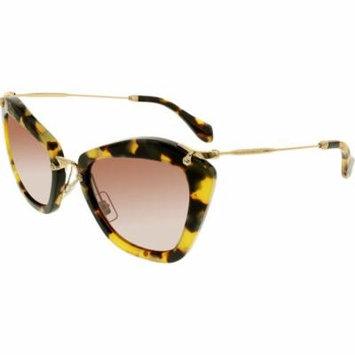 Miu Miu Women's MU10NS-7S00A0-55 Tortoiseshell Butterfly Sunglasses