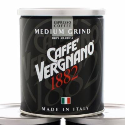 Caffe Vergnano Espresso Roast 100% Arabica Ground Coffee in Tin - Medium Grind