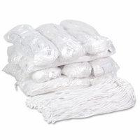 Boardwalk Premium Cut-End Wet Mop Heads, Rayon, 20oz, White, 12/Carton 2320F