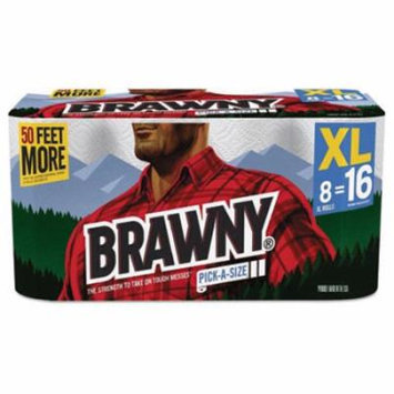 Brawny; Towel,Prt,156/32/8xl,Wh 439645