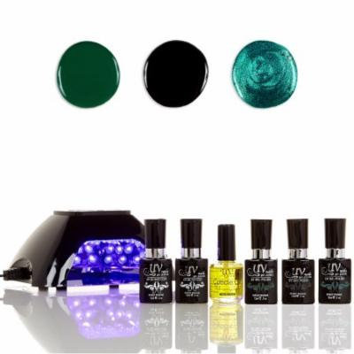 UV-Nails LED Lamp and Gel Nail Polish Starter Kit V10-B-20